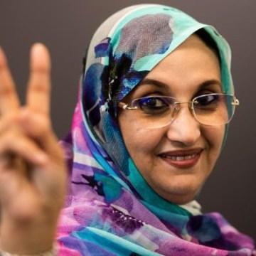 Aminetu Haidar muestra su total apoyo a los manifestantes saharauis en El Guerguerat