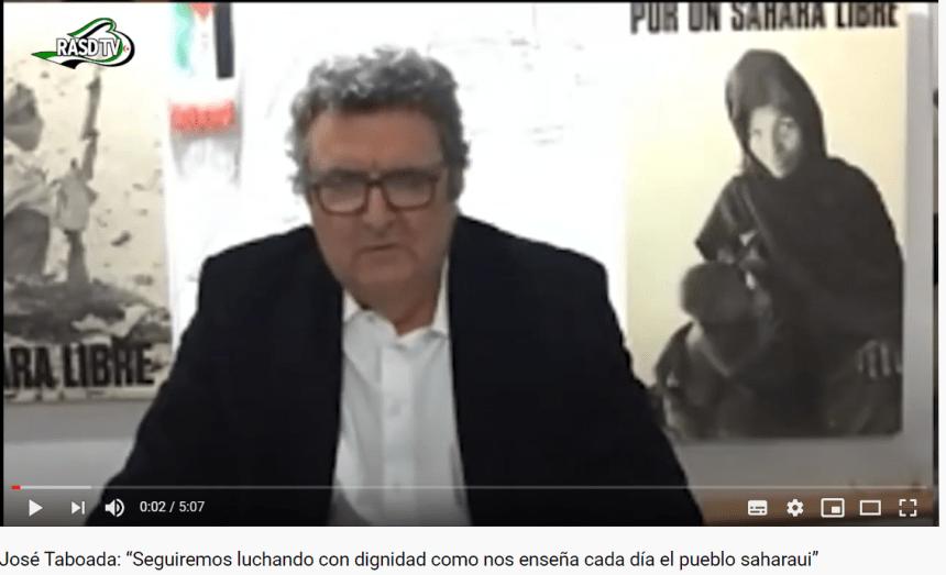 """José Taboada: """"Seguiremos luchando con dignidad como nos enseña cada día el pueblo saharaui"""""""