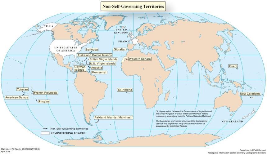 Territorios No Autónomos | Las Naciones Unidas y la descolonización