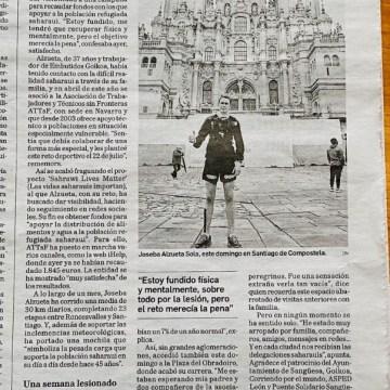 SOLIDARIDAD CON EL PUEBLO SAHARAUI   758 km con un buen fin   Diario de Navarra
