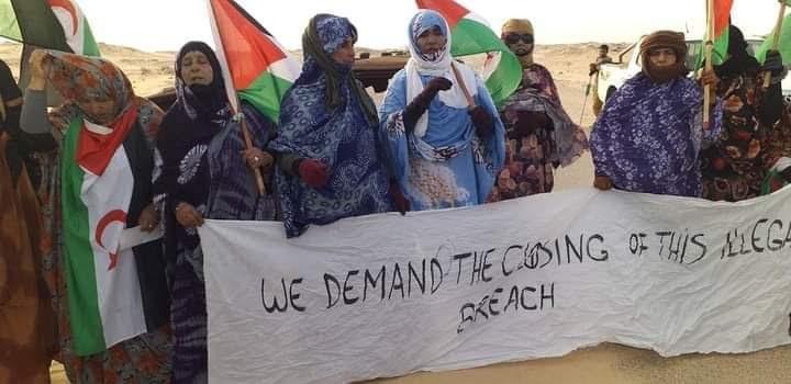 Por décimo tercer día consecutivo; la brecha ilegal en El Guerguerat está totalmente tomada y controlada por los saharauis