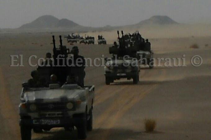 El ejército saharaui mantiene el estado de máxima alerta de combate ante cualquier agresión marroquí contra los manifestantes saharauis acampados en la brecha ilegal en El Guerguerat