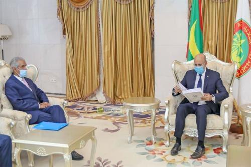 El presidente de Mauritania recibe a una importante delegación saharaui