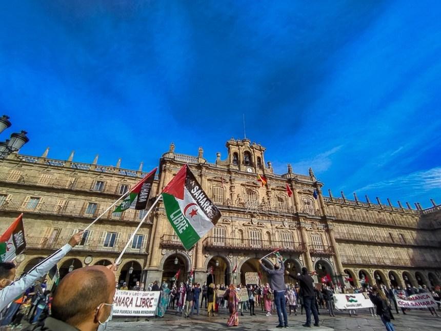 Centenares de personas se reúnen en Salamanca en solidaridad con el pueblo saharaui | Sahara Press Service
