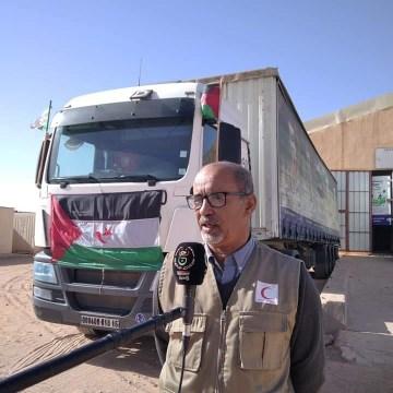 Llega a los campamentos saharauis una caravana humanitaria donada por la Unión General de Agricultores Argelinos