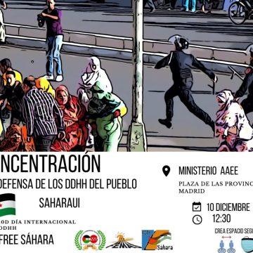 Convocan manifestación para exigir el respeto a los DDHH del pueblo saharaui –JUEVES 10 DE DICIEMBRE, A LAS 12.30 EN LA PLAZA DE LAS PROVINCIAS, MADRID (frente al Ministerio de AAEE)
