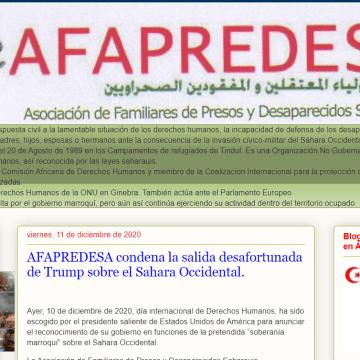 AFAPREDESA condena la salida desafortunada de Trump sobre el Sahara Occidental