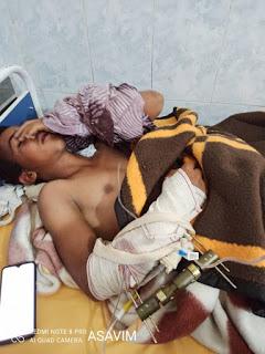 Asociación Saharaui de Víctimas de Minas (ASAVIM): un joven saharaui de 13 años se encuentra gravemente herido y presenta fracturas en el brazo derecho, pierna izquierda y profundas heridas en el abdomen