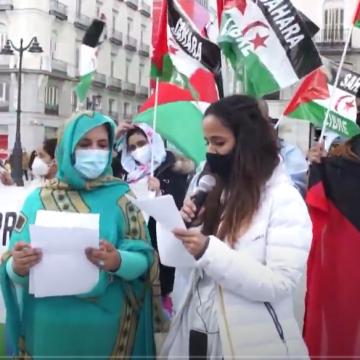 Manifestación en la Plaza del Sol (Madrid) para exigir justicia para el pueblo saharaui –por Rasd-tv En Español – Tv saharaui- vía Rasd-tv En Español