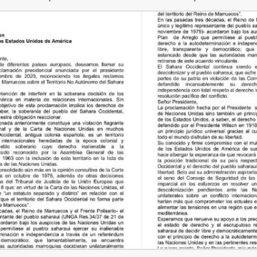 Diputados de Podemos y ERC envían carta a Biden para que revoque la decisión de Trump sobre el Sáhara