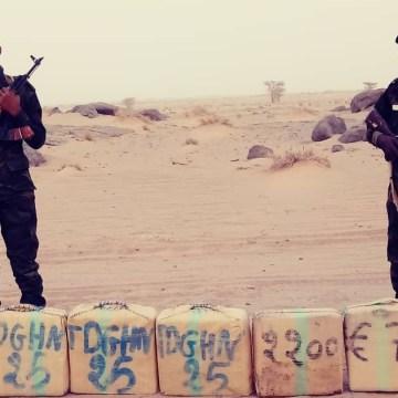 Ministerio de Defensa Nacional saharaui: una unidad del Ejército Saharaui incauta una cantidad de drogas procedente de Marruecos