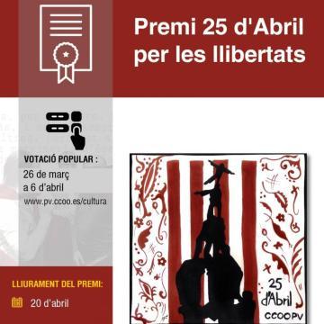 «Zemmur, Associació de Sahrauís a València» candidata finalista al 'III Premi 25 d'Abril per les Llibertats' – Votaciones hasta el 6 de abril