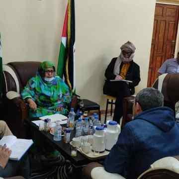 Recibe Ministra de Salud Pública a una delegación del ACNUR   Sahara Press Service