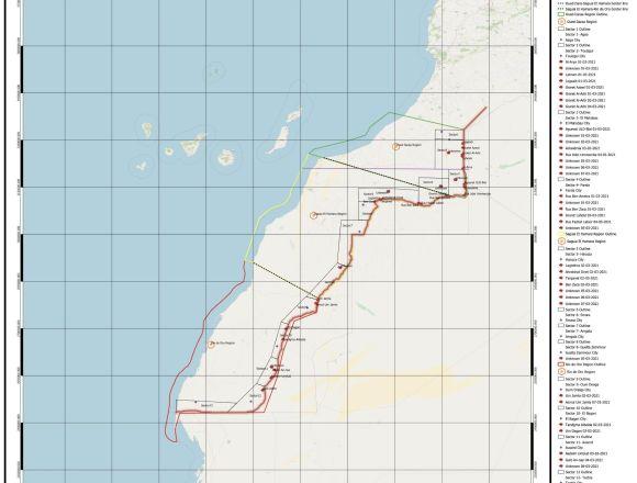 Datos oficiales de la Guerra del Sáhara Occidental (estadística, comunicados y mapas militares)