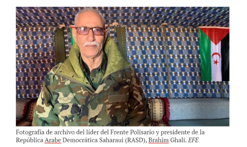 Brahim Ghali, líder del Frente Polisario, se encuentra ingresado en un hospital en España – RTVE