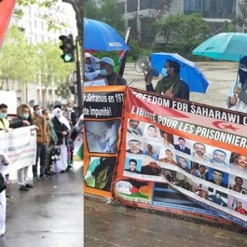 La comunidad saharaui en Francia toma las calles de París exigiendo la descolonización y elogia al Ejército saharaui