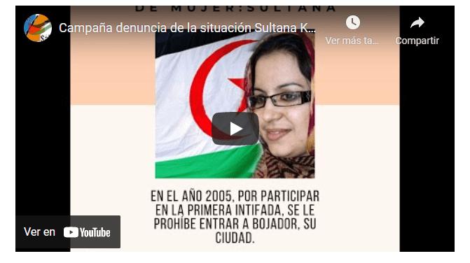 CEAS-Sahara: Campaña denuncia de la situación Sultana Khaya