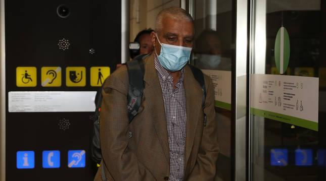 El presidente de la república Brahim Ghali llega a Argel