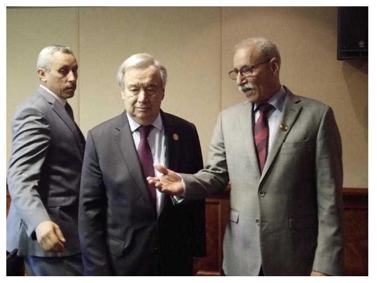 Guterres traslada al presidente saharaui el compromiso de la ONU con la resolución del conflicto en el Sáhara Occidental