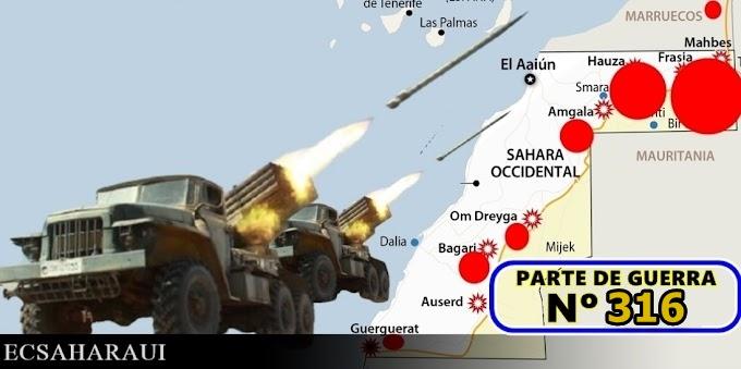 GUERRA EN EL SAHARA   Parte de Guerra Nº 316