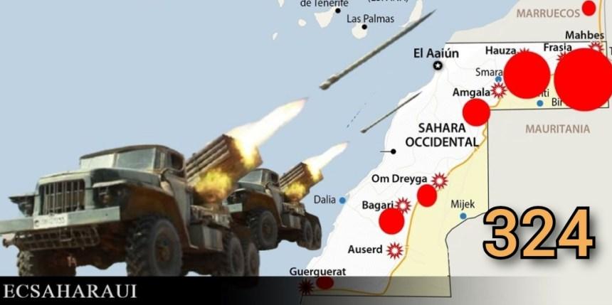 GUERRA EN EL SAHARA   Parte de Guerra Nº 324