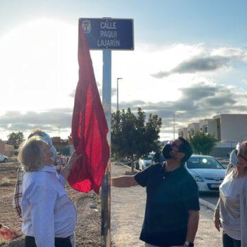 Águilas recuerda a Paqui Lajarín inaugurando una calle con su nombre – La Actualidad