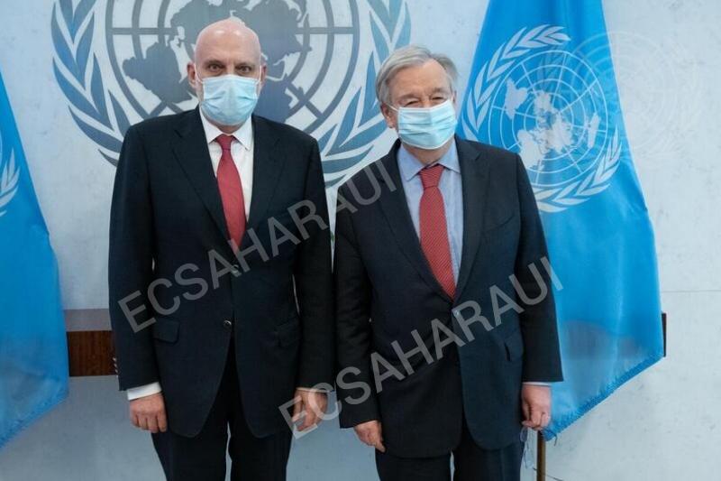 El nuevo jefe de la MINURSO y representante especial para el Sáhara Occidental se reúne con Guterres