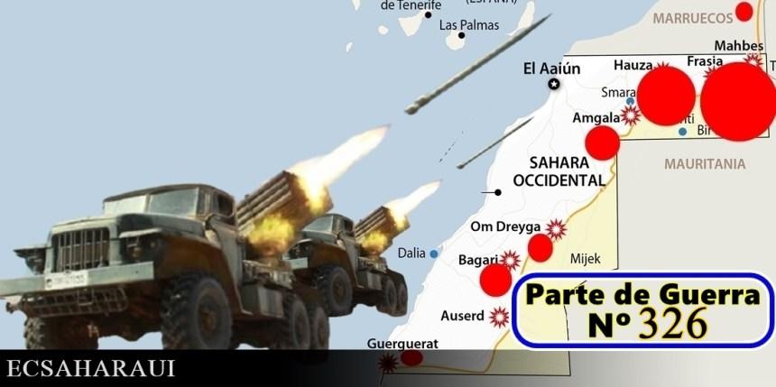 GUERRA EN EL SAHARA   Parte de Guerra Nº326