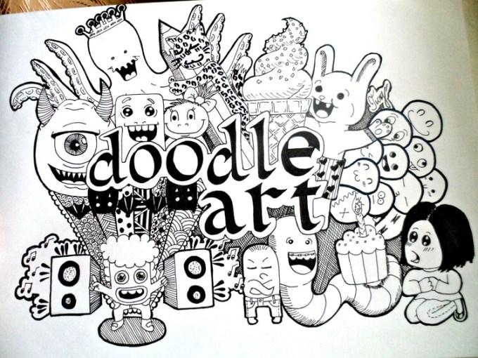inspirasi doodle art nama