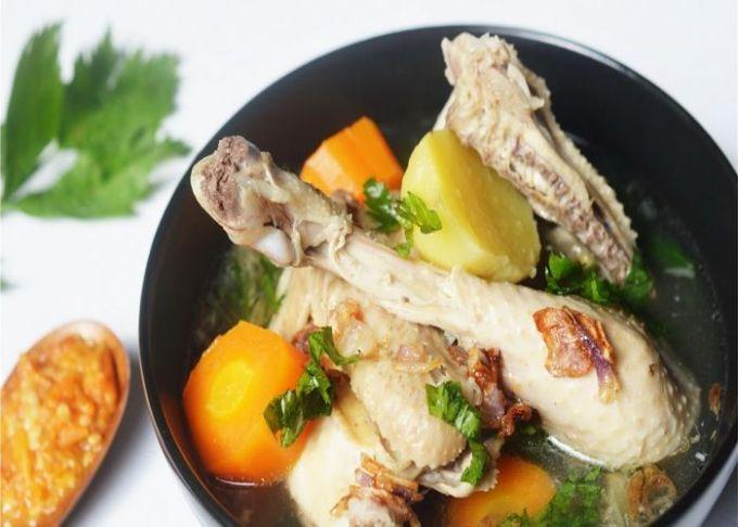 resep dan cara membuat sop ayam pecok