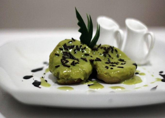 cara membuat dan resep kue cubit green tea