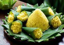 cara membuat dan resep nasi kuning tumpeng mini