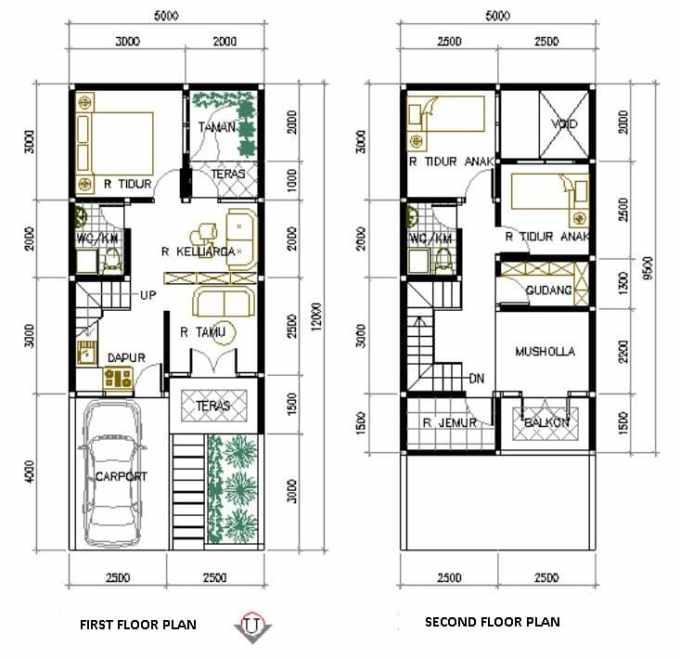 Desain Rumah Minimalis 2 lantai dengan Musala