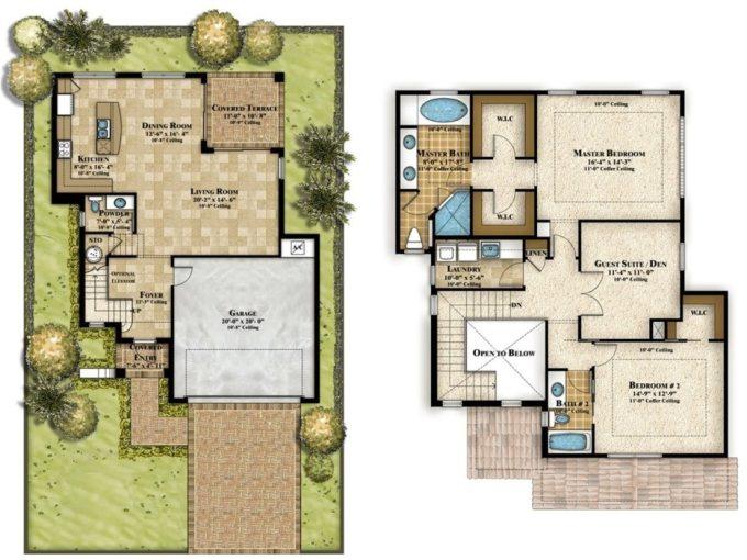 Desain Rumah Minimalis dengan 2 lantai dan 4 Kamar