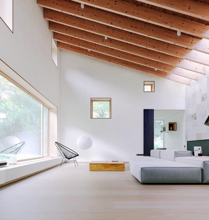 desain ruang tamu minimalis putih