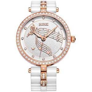 BUREI Women's Elegant Analog Quartz