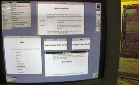 Tim Berners-Lee WorldWideWeb on NEXTSTEP 3.3 on JAWS