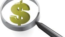 Illustration montrant une loupe et le symbole du dollar