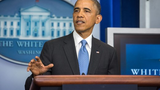 President Barack Obama delivers remarks on the verdict in the George Zimmerman trial for the killing of Trayvon Martin, in the James S. Brady Press Briefing Room of the White House, July 19, 2013. (Official White House Photo by Chuck Kennedy)