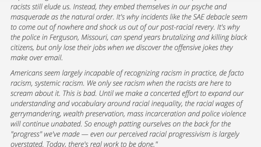 Racism is more than individual acts of meanness, it's a structural system