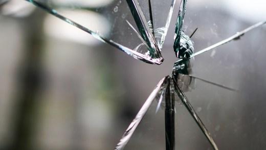 broken glass from a window