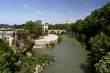 Tiber Island and the River Tiber, Rome Italy