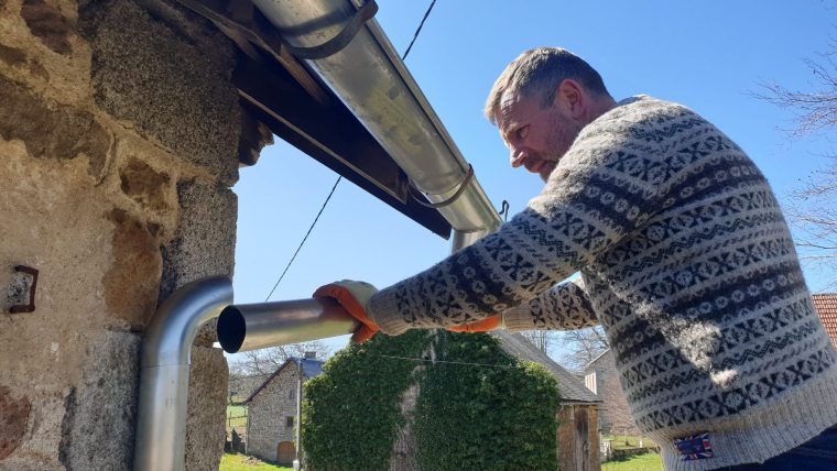 gutters drains and beams