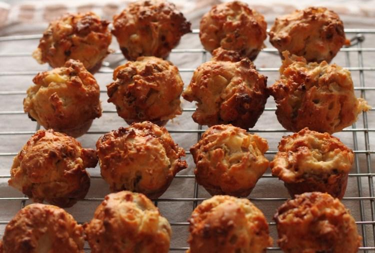 stilton pear muffin