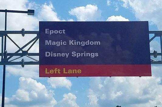 Misspelled sign at Disney World says