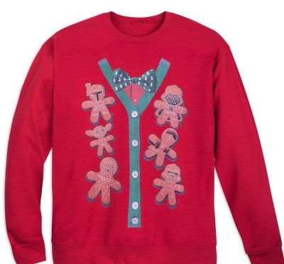 disney has plenty of star wars christmas sweatshirts but this one is a fun take on the iconic gingerbread men seen during the holidays