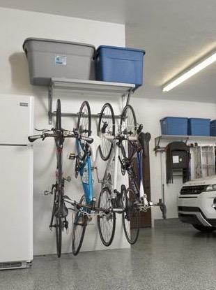 monkey bars bike storage