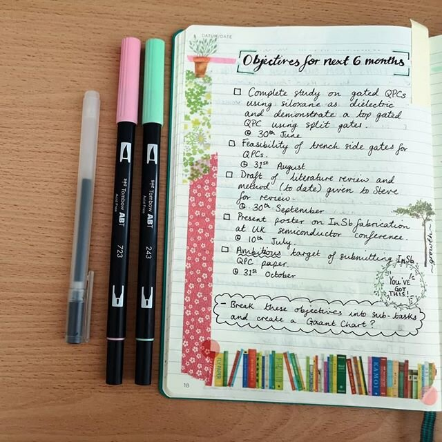 Organized PhD student: a photo of a bullet journal collection
