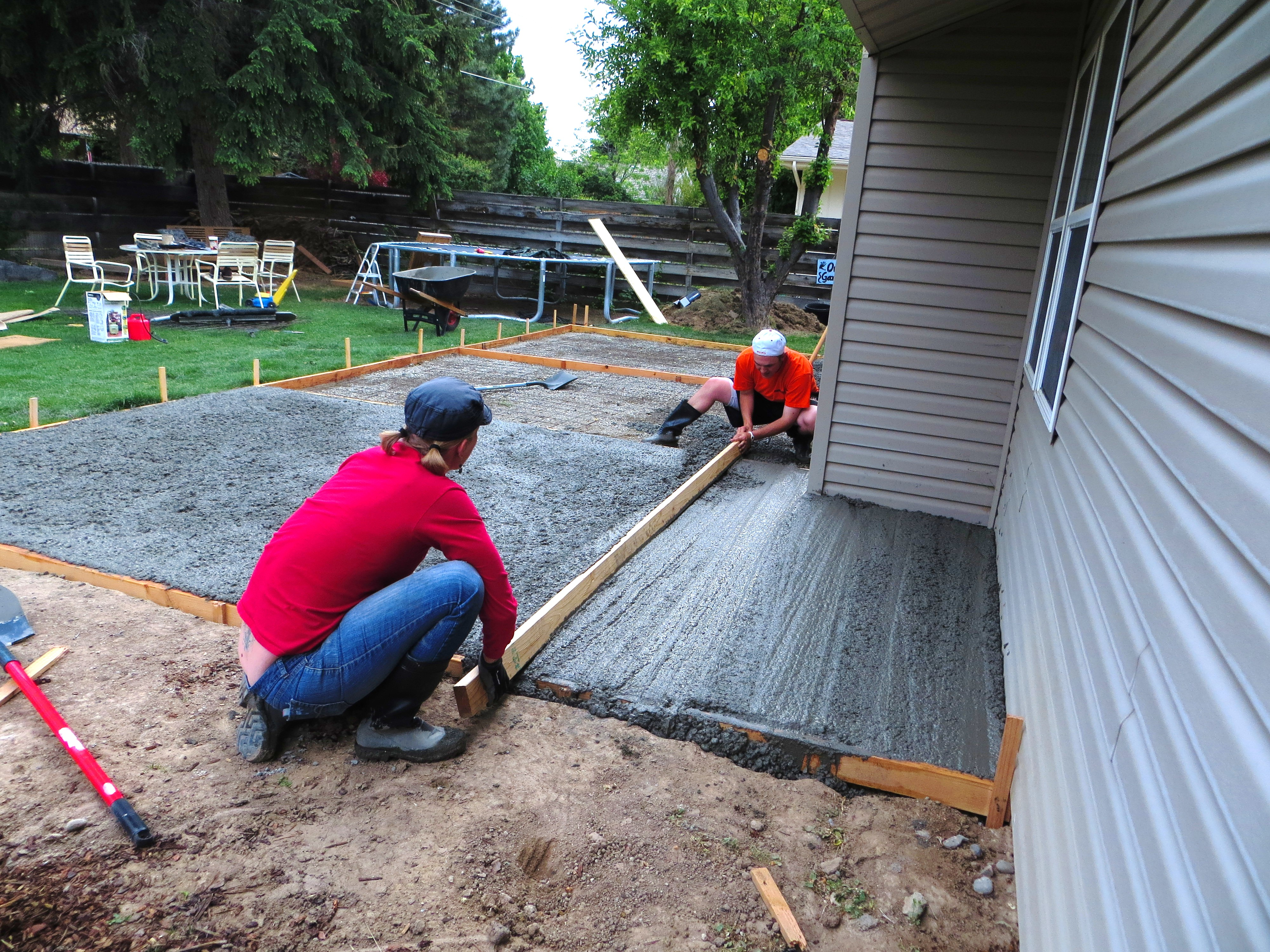 pouring a concrete patio notes from
