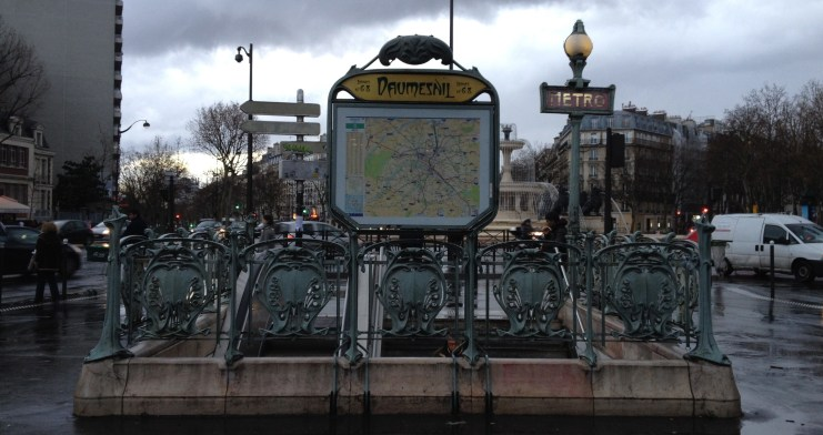 My metro stop. Took me half my year in Paris to figure out how to pronounce the name. :)